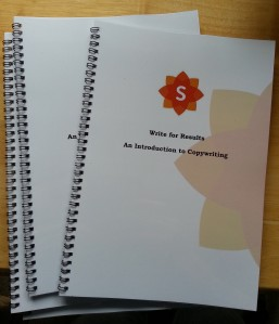 Sunflower Communications Introduction to Copywriting workbook